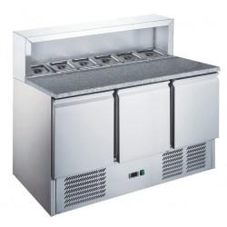 Furnotel - Table à pizza réfrigérée inox GN 1/1 - 402 litres - MP9031X