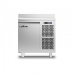 Coldline - Table réfrigérée positive MASTER avec plan de travail adossé - Groupe logé - 1 porte - 98 litres - TA091MQ-2
