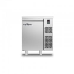 Coldline - Table réfrigérée positive MASTER plan de travail - Sans groupe - 1 porte - 98 litres - TP091MQR