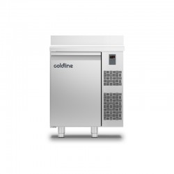 Coldline - Table réfrigérée positive MASTER plan de travail adossé - Sans groupe - 1 porte - 98 litres - TA091MQR