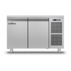 Coldline - Table réfrigérée positive MASTER plan de travail standard - Groupe logé - 2 portes - 229 litres - TP131MQ-2