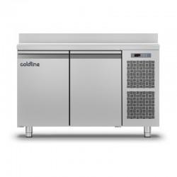 Coldline - Table réfrigérée positive MASTER plan de travail adossé - Groupe logé - 2 portes - 229 litres - TA131MQ-2