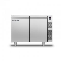 Coldline - Table réfrigérée positive MASTER sans plan de travail - Sans groupe - 2 portes - 229 litres - TS131MQR