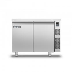 Coldline - Table réfrigérée positive MASTER avec plan de travail standard - Sans groupe - 2 portes - 229 litres - TP131MQR