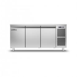 Coldline - Table réfrigérée positive MASTER avec plan de travail - Groupe logé - 3 portes - 360 litres - TP171MQ-2