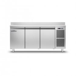 Coldline - Table réfrigérée positive MASTER plan de travail adossé - Groupe logé - 3 portes - 360 litres - TA171MQ-2