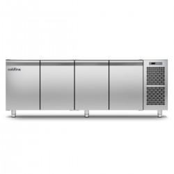 Coldline - Table réfrigérée positive MASTER sans plan de travail - Groupe logé - 4 portes - 491 litres - TS211MQ-2