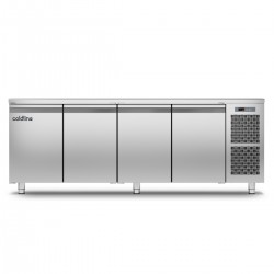 Coldline - Table réfrigérée positive MASTER sans plan de travail - Groupe logé - 4 portes - 491 litres - TP211MQ-2