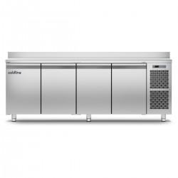 Coldline - Table réfrigérée positive MASTER plan de travail adossé - Groupe logé - 4 portes - 491 litres - TA211MQ-2