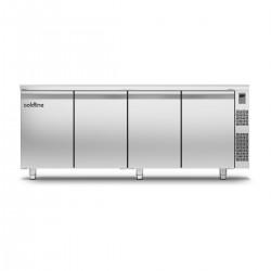 Coldline - Table réfrigérée positive MASTER avec plan de travail standard - Sans groupe - 4 portes - 491 litres - TP211MQR