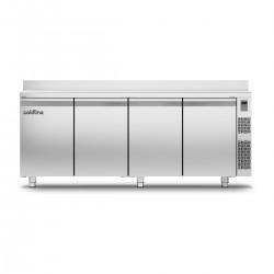 Coldline - Table réfrigérée positive MASTER avec plan de travail adossé - Sans groupe - 4 portes -TA211MQR