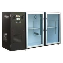 Unifrigor - Arrière-bar Skinplate - Série LEDS - Groupe logé - 2 petites portes vitrées - 223 litres - U52PVS