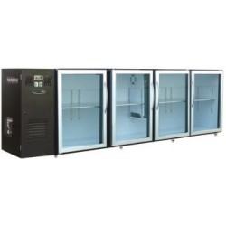 Unifrigor - Arrière-bar Skinplate - Série LEDS - Groupe logé - 4 moyennes portes pleines - 610 litres - U54MVS
