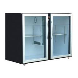 Unifrigor - Arrière-bar Skinplate - Série LEDS - Sans groupe - 2 larges portes vitrées - 466 litres - U72LVSSG