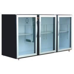 Unifrigor - Arrière-bar Skinplate - Série LEDS - Sans groupe - 3 larges portes vitrées - 128 litres - U73LVSSG