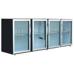 Unifrigor - Arrière-bar Skinplate - Série LEDS - Sans groupe - 4 larges portes vitrées - 967 litres - U74LVSSG