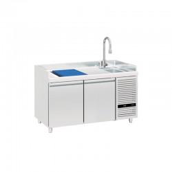 Mercatus - Table à poissons positive -2°C/+8°C - 2 portes - 246 litres - TPO2