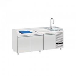 Mercatus - Table à poissons positive -2°C/+8°C - 3 portes - 369 litres - TPO3