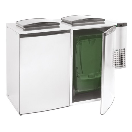 Mercatus - Refroidisseur de déchets avec unité frigorifique - 2 x 240 L - PRD480