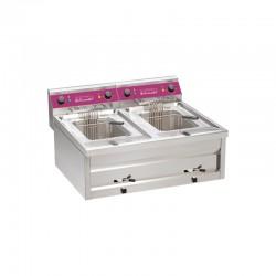 Furnotel - Friteuse sur table électrique - 2 x 9 litres - 2 bacs - ACFE29