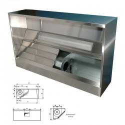 Furnotel - Hotte dynamique spéciale laverie - Avancée 1188 mm - Longueur - 2000 mm, réfoulement horizontal - DPL1220H
