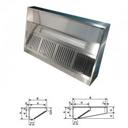 Furnotel - Hotte statique - Hauteur 500 mm - Avancée 938 mm, Longueur 500 mm - HP5905