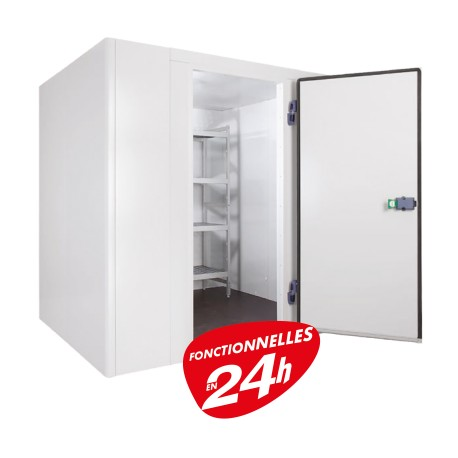 Furnotel - Chambre froide négative 1700 X 1700 mm + Groupe Frigo + Rayonnages - CN094