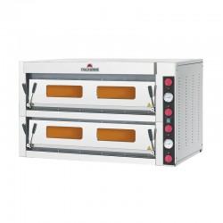 Italforni - Four à pizza - Série TK - 2 chambre - 18 pizzas - Commandes mécaniques - TK2C