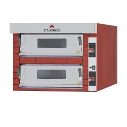 Italforni - Four à pizza - Série TEKNO - 2 chambres - 8 pizzas - B204