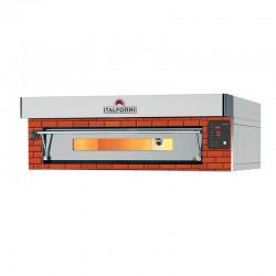 Italforni - Four à pizza rustique - Gamme EURO - 1 chambre - 12 pizzas - Commandes digitales - EC12RD