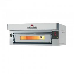 Four à pizza inox - Gamme EURO - 1 chambre - 6 pizzas - Commandes digitales - EC6DI