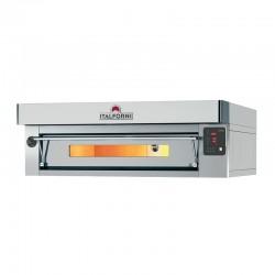 Italforni - Four à pizza inox - Gamme EURO - 1 chambre - 12 pizzas - Commandes digitales - EC12DI