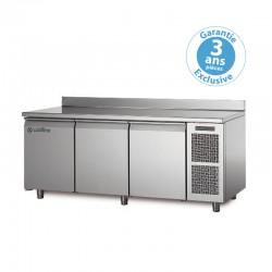 Coldline - Table réfrigérée positive MASTER - Groupe logé - 3 portes - 356 litres