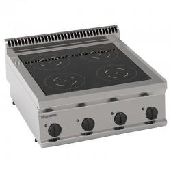 Tecnoinox - Plaque de cuisson électrique à induction - 4 plaques - Gamme 700 - PIN70E7