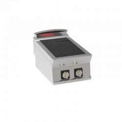 Tecnoinox - Plaque de cuisson électrique à induction à poser - 2 plaques - Gamme 700 - PIN4E7