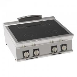 Tecnoinox - Plaque de cuisson électrique à induction à poser - 4 plaques - Gamme 700 - PIN8E7