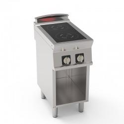 Tecnoinox - Plaque de cuisson électrique à induction sur placard - 2 plaques - Gamme 700 - PIN4FE7