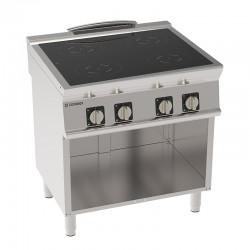 Tecnoinox - Plaque de cuisson électrique à induction sur placard - 4 plaques - Gamme 700 - PIN8FE7