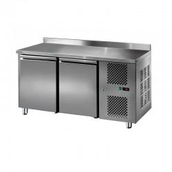 Furnotel - Table réfrigérée inox positive avec dosseret - 2 portes - 206 litres - GN2201T