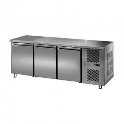 Furnotel - Table réfrigérée inox positive - 3 portes - 310 litres - GN3101T