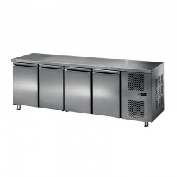 Furnotel - Table réfrigérée inox positive - 4 portes - 413 litres - GN4101T
