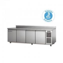 Coldline - Table réfrigérée positive MASTER - Groupe logé - 4 portes - 480 litres