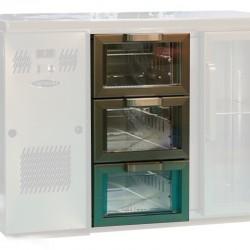 Unifrigor - Kit 3 tiroirs vitrés pour porte moyenne - Prof. 700 - Finition Inox - 141538