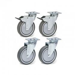 Furnotel - Kit roulettes pour armoires - KIT4RT