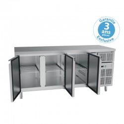 Furnotel - Table réfrigérée positive - 4 portes - 616 litres