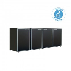 Unifrigor - Arrière-bar - Série CLASSIC - Sans groupe - 4 moyennes portes pleines - 610 litres