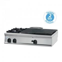 Tecnoinox - Plaque de cuisson - Top 2 feux vifs gaz 1/2 plaque coup de feu à poser - Gamme 900 - PCPG12G9