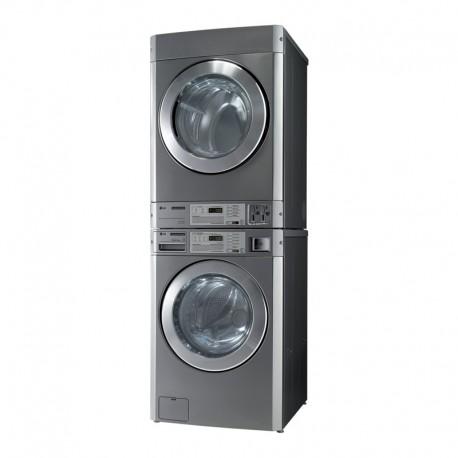 LG - Colonne lave-linge et sèche-linge professionnel avec monnayeur à pièces intégré - 11 kg