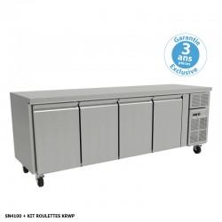 Furnotel - Table réfrigérée positive - 4 portes - 511 litres