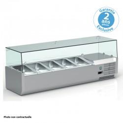 Furnotel - Vitrine réfrigérée pour bacs GN 1/3 - 150 W - V18GN13
